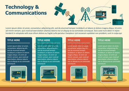 Communication : Infographic of technology and communication