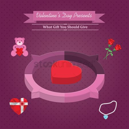 Teddybears : Infographic of valentine s day presents