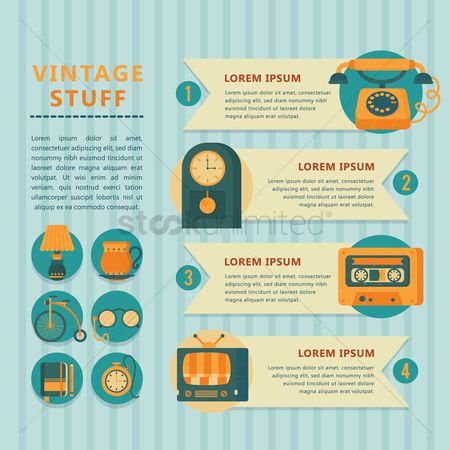 Tv : Infographic of vintage stuff
