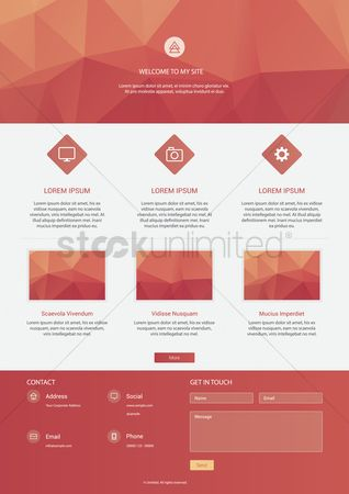 Setting : Infographic of website