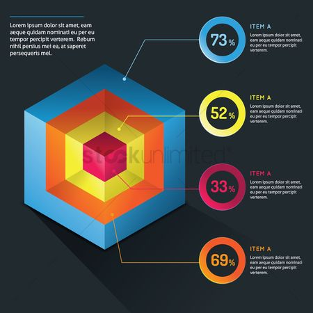 Datum : Infographic template design