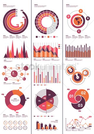 Graph : Infographic template design