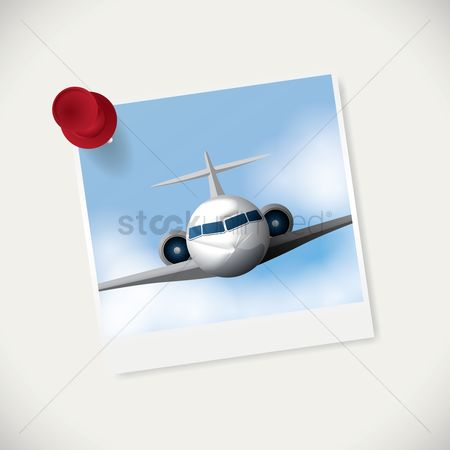 Airway : Instant photograph of aeroplane