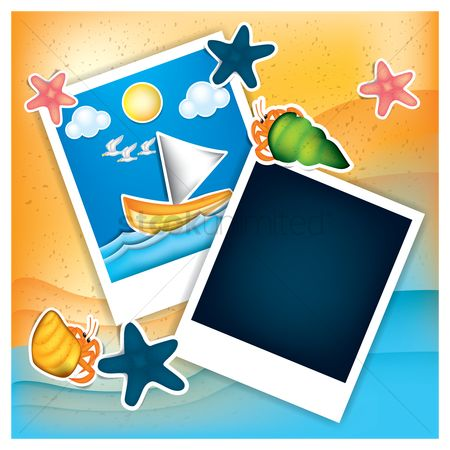 Starfishes : Instant photos with beach theme