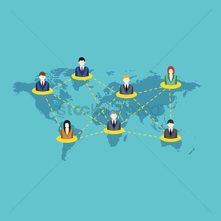 Businesspeople : International communication among businesspeople