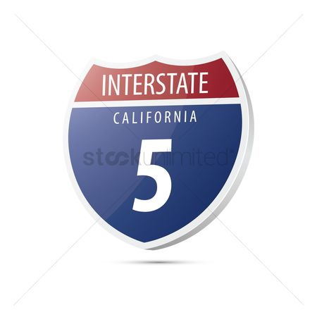 Interstates : Interstate california route sign