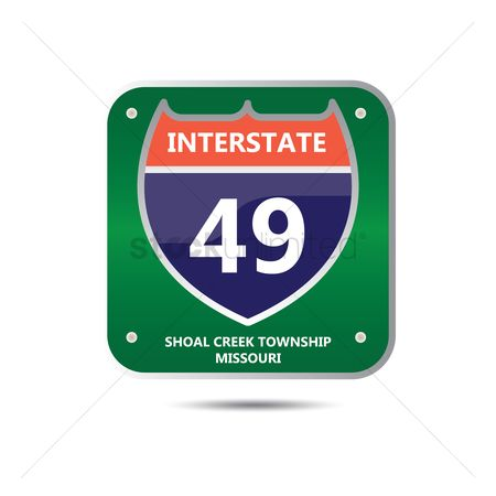 Interstates : Interstate forty nine route sign