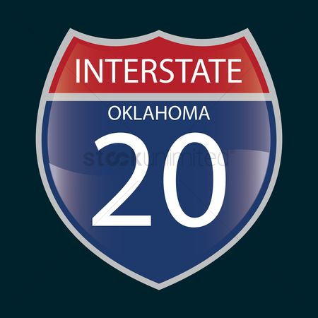 Interstates : Interstate oklahoma 20 route sign