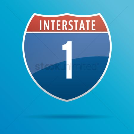 Interstates : Interstate one route sign