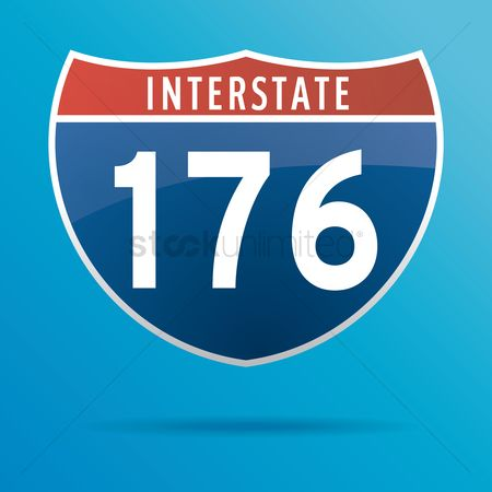 Interstates : Interstate one seventy six route sign