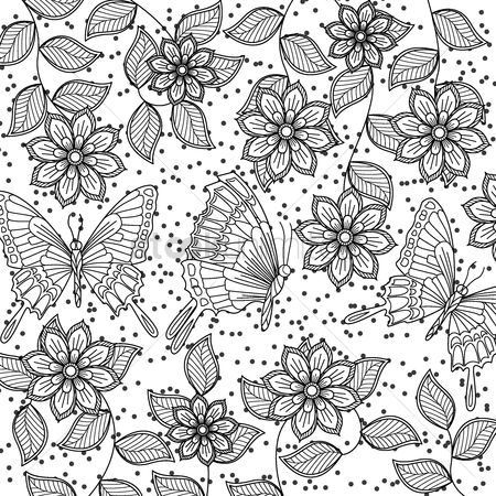 Budding : Intricate butterfly design