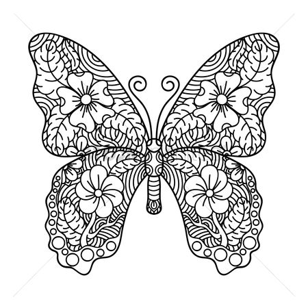 Styles : Intricate butterfly design
