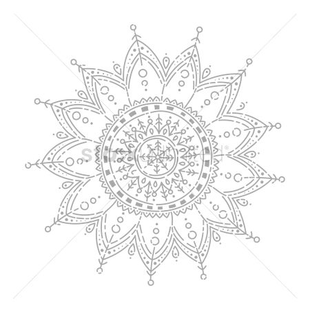 Hand drawn : Intricate designed flower