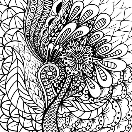 Sketching : Intricate floral design