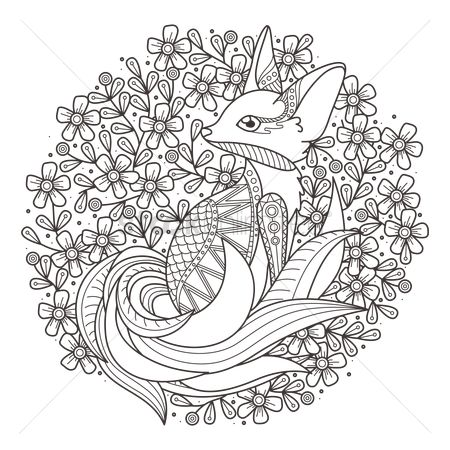 Graphic : Intricate fox design