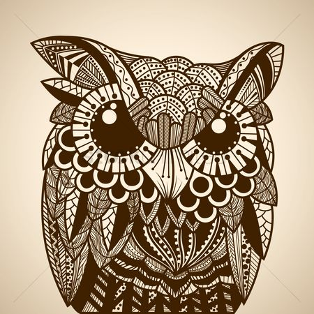 Owl : Intricate owl design