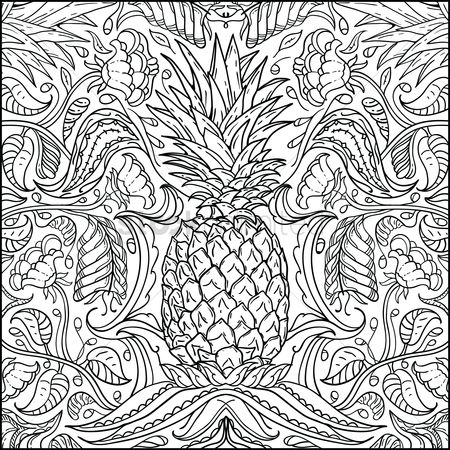 Pineapple : Intricate pineapple design