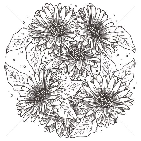 Patterns : Intricate sunflower design