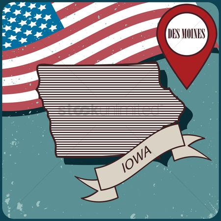 Free Des Moines Iowa Stock Vectors | StockUnlimited Des Moines Iowa Map Usa on