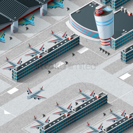 Lorries : Isometric airport