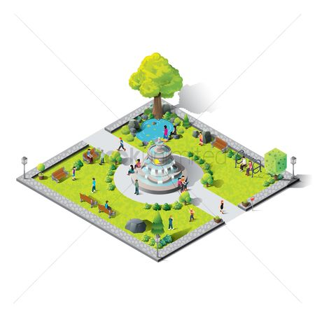 Phones : Isometric amusement park