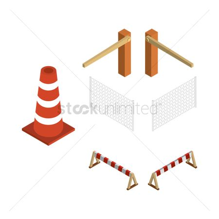 Cones : Isometric barricade equipment