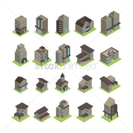 Architectures : Isometric building set