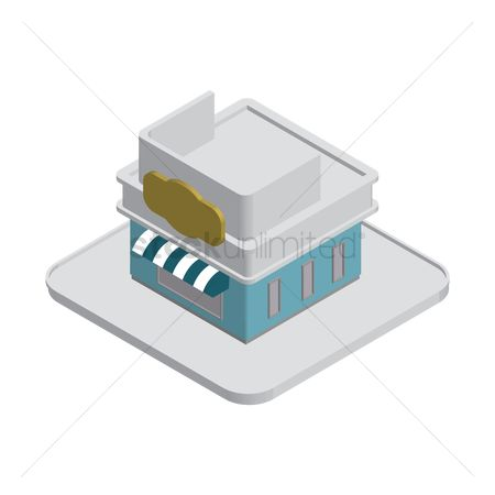 Awning : Isometric building