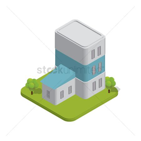 Real estate : Isometric building