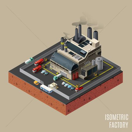 Buildings : Isometric factory