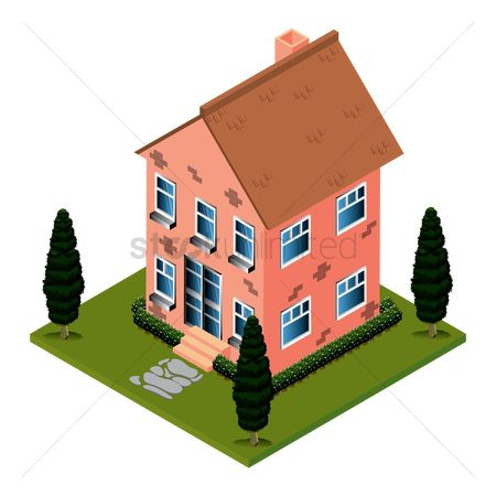 Real estate : Isometric house