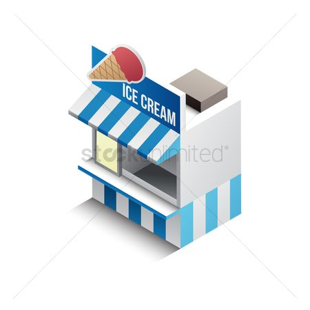 Store : Isometric ice cream store