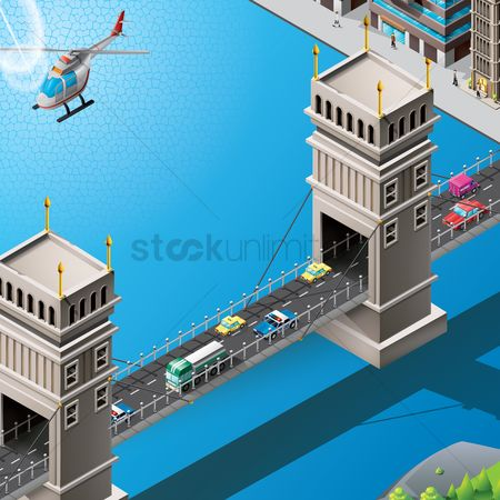Transport : Isometric of bridge
