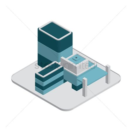 Office  building : Isometric office building