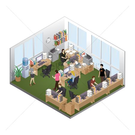 Buildings : Isometric office layout