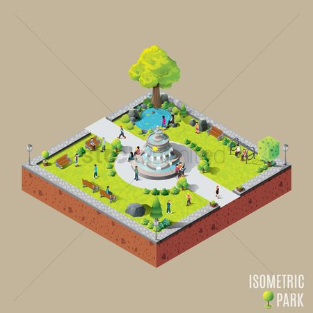 Visualize : Isometric park