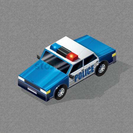 Transports : Isometric police car