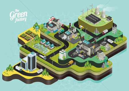 Ocean : Isometric power plant