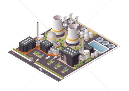 Transport : Isometric power plant