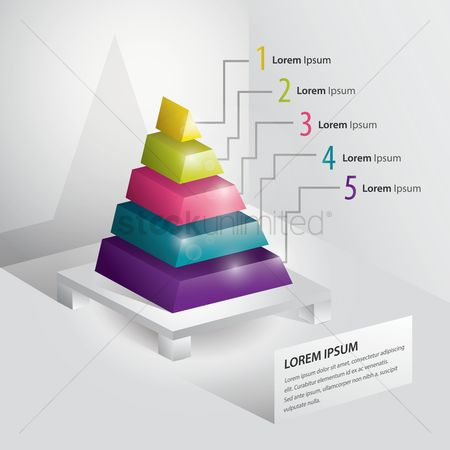 Copyspaces : Isometric pyramid diagram