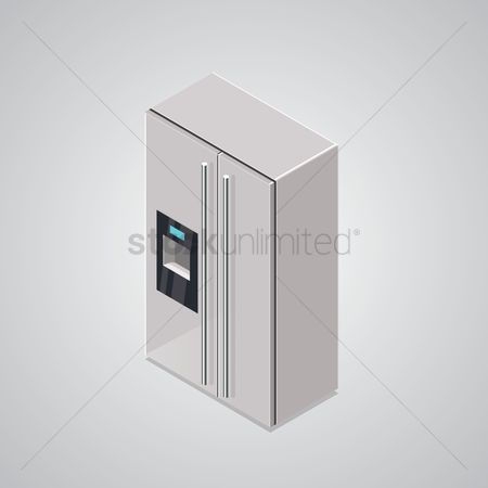 Appliance : Isometric refrigerator