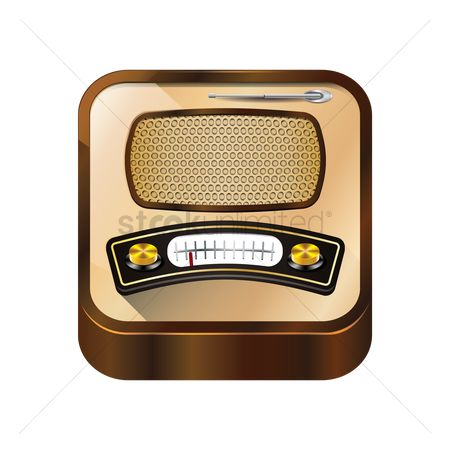 Broadcasting : Isometric retro radio