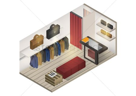 Shops : Isometric shop interior