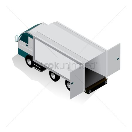 Lorries : Isometric truck