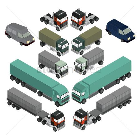Transport : Isometric vehicles