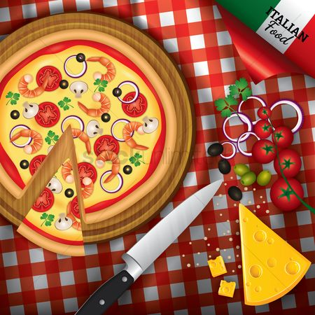 Junk food : Italian pizza