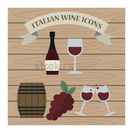 Red wines : Italian wine icons