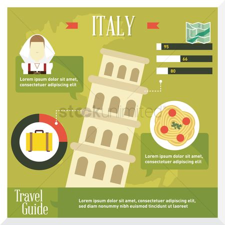 Pisa : Italy travel infographic