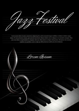 Musical instruments : Jazz festival poster