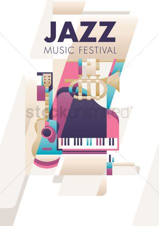 Musicals : Jazz music festival poster design